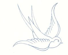 simple sparrow outline - Google Search
