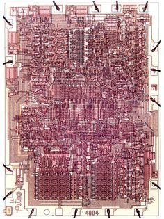 """first microprocessor invented by Intel Corporation in 1971. First sold in Japan to Busicom Corporation. """"new era in integrated electronics"""""""