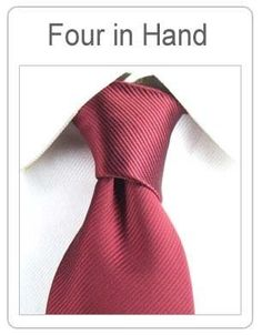 Four in Hand TheGoldenStyle Tie Knot Styles, Four In Hand Knot, Tie Knots, Modern Fashion, Style Inspiration, Ties, Inspired, Different Tie Knots