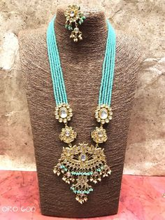 Kundan and beads set