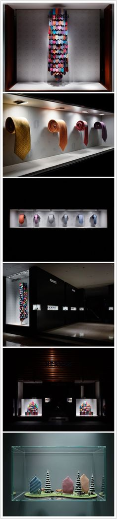 Product display inspiration / inventive ways to showcase ties