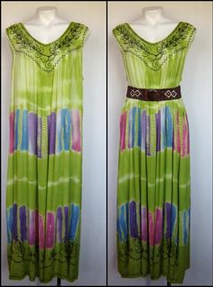 Plus Size Tie Dye FESTIVAL Beachwear Boho Maxi Dress