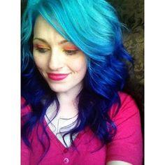 Manic Panic Hair Dye Pink Purple Blue Green Punk Goth NIB Jar... ❤ liked on Polyvore