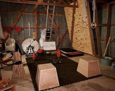 I can't tell if this is a garage gym, shed gym, or attic gym