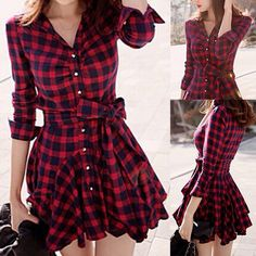 Love the flannel look for a dress!
