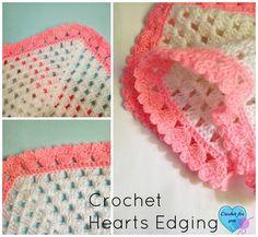 Crochet Heart Edging - free pattern