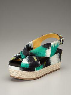 Clyde Flatform Espadrille Sandal by Bettye Muller