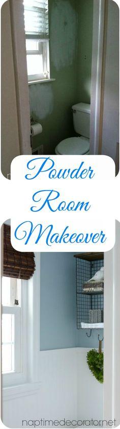 Powder Room Makeover on a budget