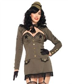 Leg Avenue Costumes 83955 -  5 PC. Pin Up Army Girl Costume