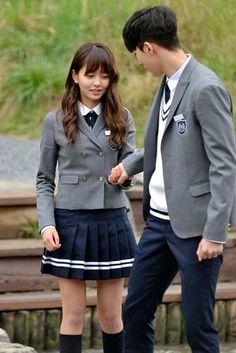 Pretty, sentimental posters for School 2015 who are you korean dramaThe school uniforms at Headley AcademyKim so hyun