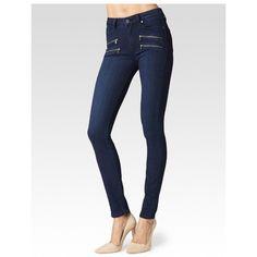 PAIGE High Rise Edgemont - Amalia ($249) ❤ liked on Polyvore featuring jeans, amalia, denim, pants, skinny fit jeans, white high-waisted jeans, white super skinny jeans, high waisted jeans and slim skinny jeans