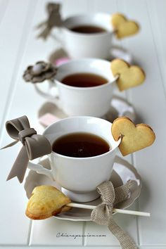 Tea time ~ Cute Idea For Tea Party                                                                                                                                                                                 More