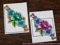 The Pink Envelope: Altenew - Garden Treasure + Copic Coloring