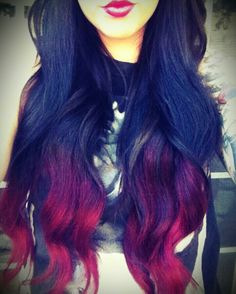 Hows black to red for ombre hair. Amazing