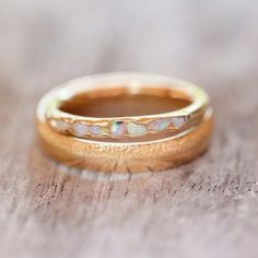 Opal Fossil Ring in Gold // Hidden Gems It's one of those hypnotic gems you just want to keep looking at.