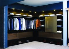 Corner wardrobe modern design white carpet