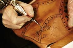 Tattoo your shoe, or leather jacket....why have I never thought of this before??
