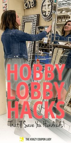 26 Hobby Lobby Hacks That'll Save You Hundreds Wanna know the secrets of Hobby Lobby obsessed smart shoppers? The Krazy Coupon Lady will teach you 26 secret ways (hacks!) to save money at Hobby Lobby Mirrors, Hobby Lobby Wall Art, Hobby Lobby Crafts, Hobby Lobby Decor, Hobby Lobby Sales, Hobby Lobby Coupon, Store Hacks, Shopping Hacks, Simple Life Hacks