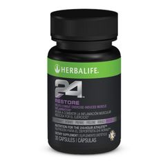 Herbalife24 Restore. Take 1 tablet at night, before bed. Promotes overnight muscle recovery.