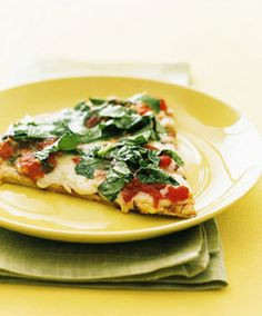 Margherita Pizza with Arugula from Epicurious.com #myplate #dairy #protein