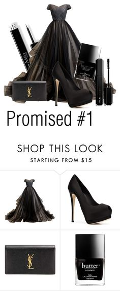 """Promised #1"" by tjedge ❤ liked on Polyvore featuring Giuseppe Zanotti, Yves Saint Laurent, Butter London and Marc Jacobs"