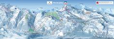 Pistekaart Tignes - Val d'Isère - skigebied met 300 km piste in Frankrijk France, Alps, Snowboard, Just Go, Mount Everest, Skiing, Mountains, World, Ski Resorts