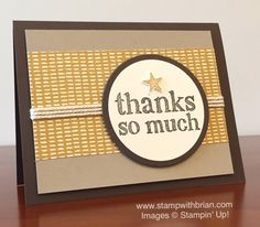 A World of Thanks, Stampin' Up!, Brian King, CYCI93, PP269