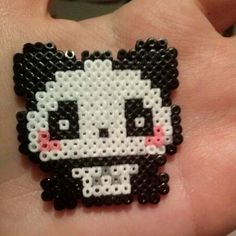 Panda hama beads by hamakawaiiart