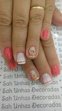 Nail Art Diy, Diy Nails, Nail Polish Designs, Nail Art Designs, Funky Nails, Beauty Makeup Tips, Flower Nails, French Nails, Nail Arts