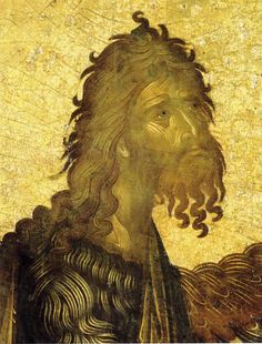 Saint John the Baptist - portrait detail icon Orthodox Catholic, Orthodox Christianity, Byzantine Icons, Byzantine Art, Roman Church, John The Baptist, Orthodox Icons, Sacred Art, Christian Art
