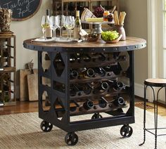 Love this table, and it is on wheels!