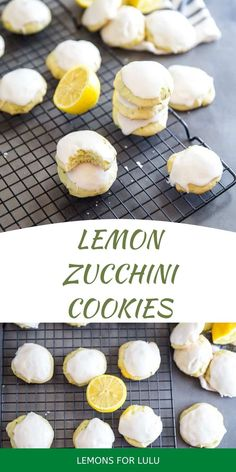 Zucchini cookies that are soft and tender will be all the rage this spring! These cake-like cookies have fresh zucchini, lemons and a secret ingredient that makes them extra special! Zucchini Cookies, Lemon Zucchini, Healthy Salads, Yummy Snacks, Sweet Treats, Appetizers, Amazing Recipes, Comfort Foods, Rage