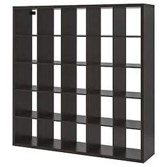 KALLAX Shelf unit, walnut effect light gray, 71 You can use the furniture as a room divider because it looks good from every angle. Ikea Shoe Storage, Hallway Storage, Cube Storage, Craft Storage, Storage Organizers, Organization, Ikea Kallax Shelf Unit, Ikea Bookcase, Organisation