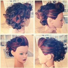 Rockabilly Updo #updo #empirebeautyschool #rockabilly