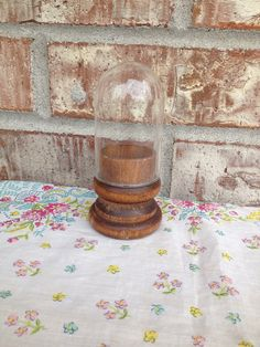 Itty Bitty Tiny Clear Glass Cloche - Solid Wood Base - Interesting / Different  on Etsy, $8.95