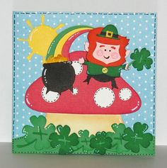 St Patrick's Day Card Lucky to Have You by lnorris21 on Etsy, $4.25