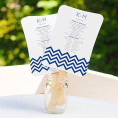 50 DIY Wedding Fans Program Fans do it by LittleThingsFavors, $52.00