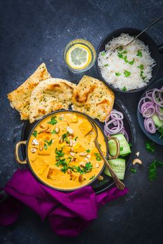 Sandhya's Kitchen - Quick & Easy Vegetarian Recipes Vegetarian Recipes Easy, Indian Food Recipes, Ethnic Recipes, Easy Indian Curries, Korma Sauce, Onion Bhaji, Tofu Curry, Crispy Tofu