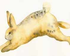 Items similar to Leopard Cross- rabbit art on Etsy Watercolor Print, Watercolor Paintings, Original Paintings, Watercolours, Little Bunny Foo Foo, Rabbit Rabbit Rabbit, Rabbit Pictures, Year Of The Rabbit, White Rabbits