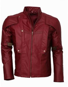 Guardians of The Galaxy Mehroon leather Jacket - Celebrity leather costume