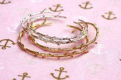 rustic twig bangle branch bracelet bridesmaid gift twig by PYKNIC2