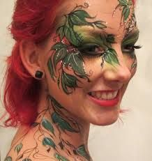 Beautiful Leaves Face and Body Painting.