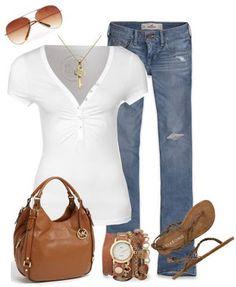 Very simple LOLO Moda: Stylish women outfits 2013 my kinda style Mode Outfits, Fashion Outfits, Womens Fashion, Fashion Trends, Summer Outfits, Casual Outfits, Summer Fashions, Basic Outfits, Casual Mode