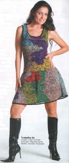 andrea croche: vestido de croche com gráfico