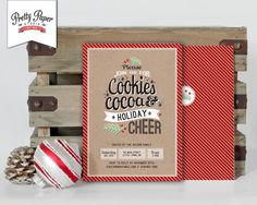 Christmas Party Invitation // Cookie Exchange // Hot Cocoa Party by ThePrettyPaperStudio, $17.00 CDN