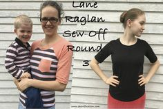 Perfect pattern for beginner sewing with knit fabric.  Lane Raglan pattern from Hey June Handmade.