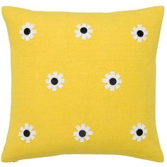 Kate Spade Flower Decorative Pillow (89 BAM) ❤ liked on Polyvore featuring home, home decor, throw pillows, floral home decor, kate spade home decor, kate spade, flower stems and flower throw pillows