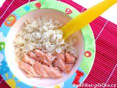 Dušený losos s rýží