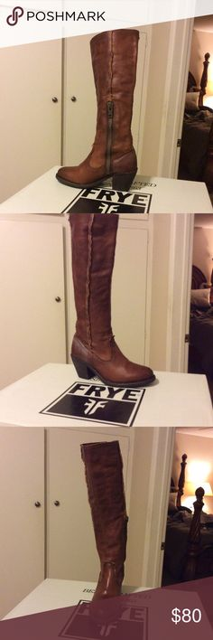 Knee high boot Cognac color Frye Shoes Ankle Boots & Booties