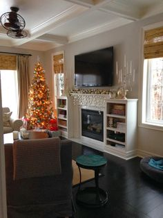 Image detail for -White fireplace surround with matching bookcase ...